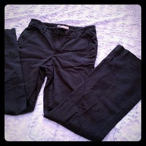 Level 99 black wide leg chino style slack pants